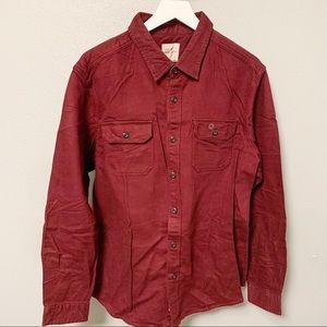 American Eagle Maroon Thick Shirt Jacket XL
